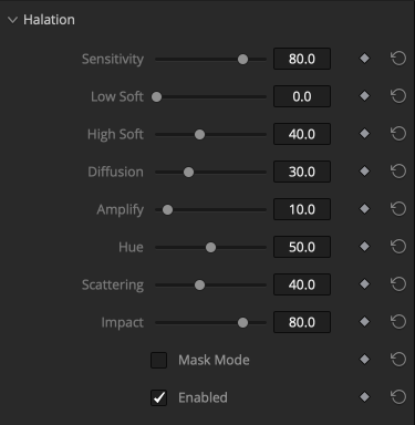 Halation OFX plugin